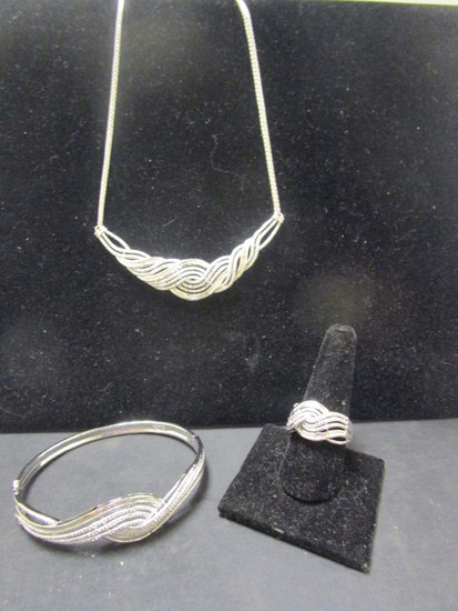 Necklace, Bracelet & Ring Set