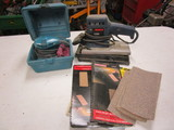 Bosch Orbital Sander and Makita Palm Sander in Case