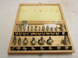 Worksmith Router Bits in Wood Case