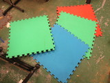 Four Interlocking Floor Mats