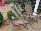 Pair of Wood Slat Rockers
