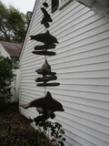 Hand Carved Dolphins and Driftwood Hanging Spinner