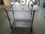 Seville Classic Stainless Steel 3 Shelf Rolling Cart