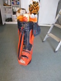 Clemson University Golf Bag, Umbrella, Two Tiger Driver Covers and