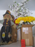 Artificial Florals and Yard Art Decorative Scarecrows