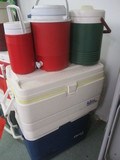 Five Coolers-Gott 48, Igloo Marine, Gott/Igloo/Coleman Jug Coolers