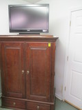 Ethan Allen Media Cabinet and Electronic Components