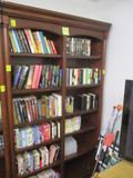 Lighted Adjustable Wood Bookcase