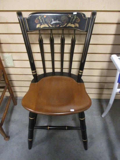 Stenciled Back Side Chair