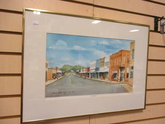 """""""Liberty, SC"""" Main Street Signed and Numbered Print by Oscar Velasquez"""