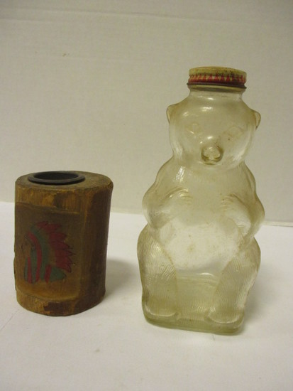 Vintage Snow Crest  Bottle Bank and Hand Crafted Wood Bank