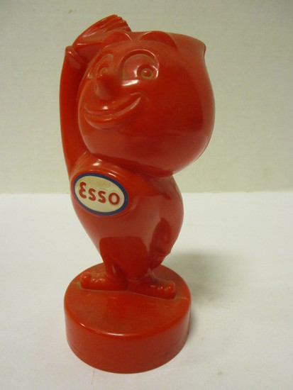 1950's Red Hard Plastic Esso Oil Drop Advertising Bank