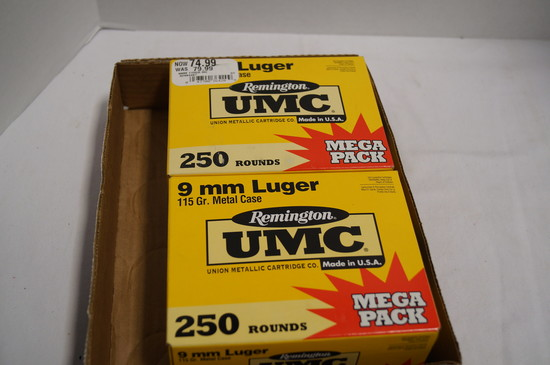 500rds. Of Remington UMC 115gr. Metal Case FMJ Ammo
