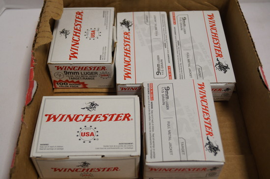 350rds. Of Winchester 9mm Luger 115gr. FMJ Ammunition