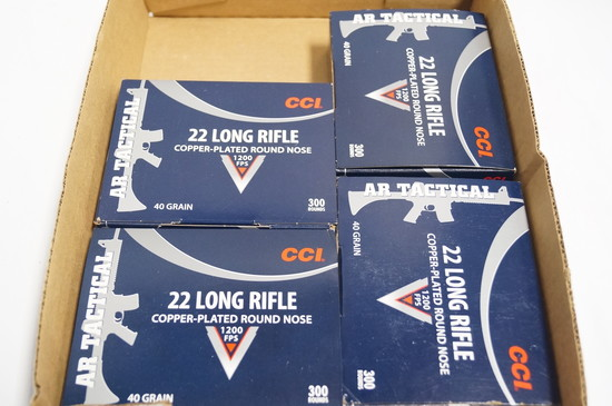 1200rds. Of CCI .22LR Copper Plated RN 40gr. 1200FPS Ammo