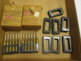 39 Rounds of 6.5 Italian Military Ammo Plus Extra Clips