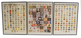 3 WWII Posters of US Aircraft Nose Art, Aircraft, and USN-USMC Aviation Squadron Insignias
