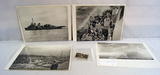 WWII Pictured Scenes - Naval Battleships, Wreckage photo with map on back, and more