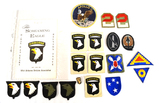 Various Patches ft. 101st Airborne Division Screaming Eagle Pin & more - See Pics