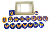 Various Patches in Glass Display Box - See Pics