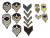 Various US Army Enlisted Rank Patches - See Pics