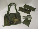 Vietnam First Aid/compass Pouch, (2) M16A1 Cleaning Kit Pouches