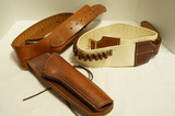 Nice Cowboy Style Leather Holster and Cartridge Belts