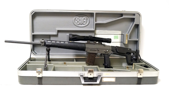 HOLY GRAIL! RARE SIG SG 550-1 Sniper Rifle w/ ZEISS Scope  - Factory Case, Target, Manual & More!