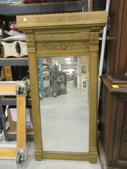 Wood Framed Mirror Painted Gold