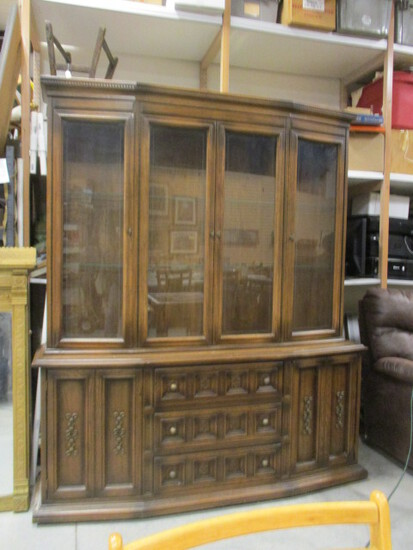 2 Piece Bow Front China Cabinet