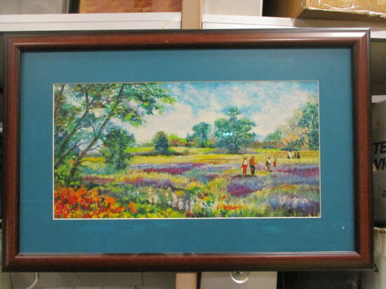 Signed and Numbered Meadow Scene Artwork by Polak