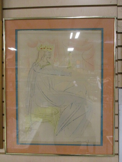 Pencil Signed Salvador Dali King Soloman SA Proof Lithograph