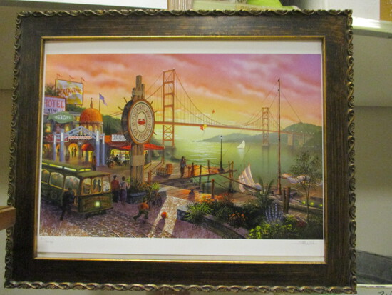 """Pencil Signed and Numbered """"San Francisco Fisherman's Wharf"""" by Showell"""