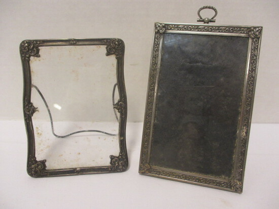 Antique Marked Sterling Photo Frame and Possible Sterling Unmarked Photo Frame