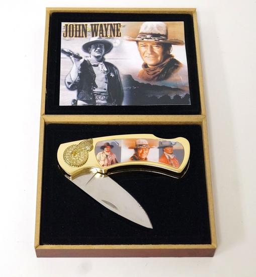 John Wayne Pocket Knife in Case