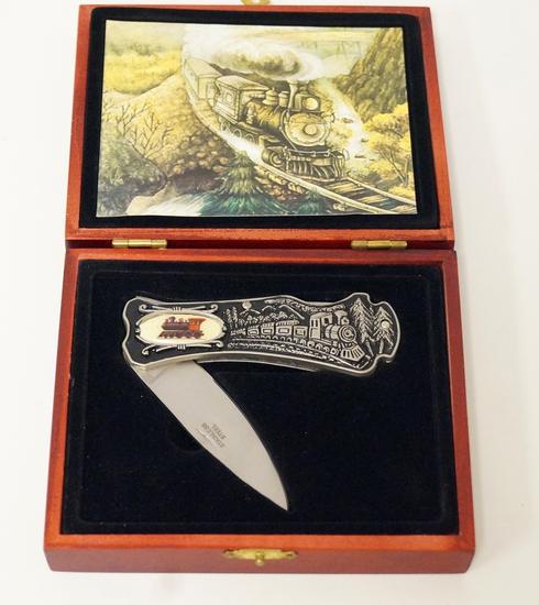 Train Pocket Knife in Case
