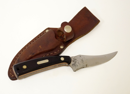 Schrade 152 Old Timer Fixed Blade Knife with Leather Sheath