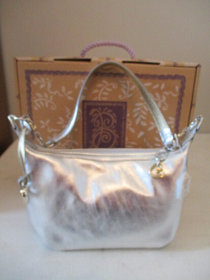 Like New Brighton H30740 Charo Silver Handbag