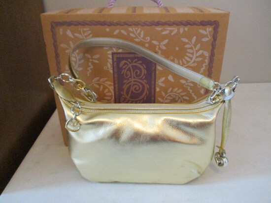Like New Brighton H30741 Charo Gold Handbag
