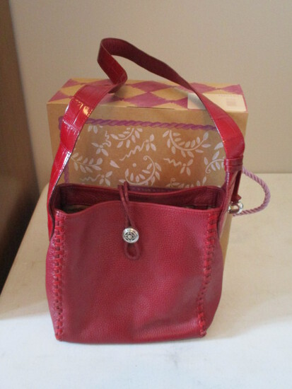 Like New Brighton H20197 Molly Red Shoulder Strap Purse