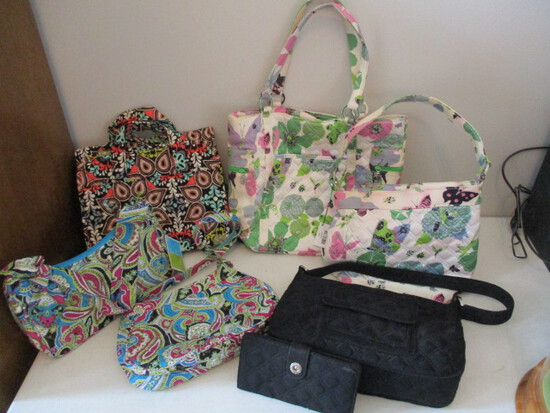 Six New Vera Bradley Purses and One Wallet-Most Still Have Tags