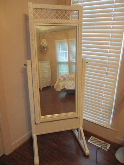 Henry Link Lexington Wicker Cheval Mirror