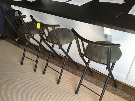 3 METAL BAR STOOLS