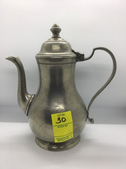 ANTIQUE PEWTER PITCHER WITH HALLMARKS AND STAMPED ITALY