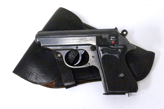 Rare Late WWII Nazi Police Eagle/C Walther PPK 7.65mm Semi-Automatic Pistol with Holster