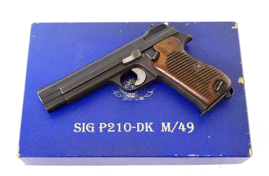 Rare Danish Contract SIG P210-DK M/49 9mm Semi-Automatic Pistol in Matching Factory Box