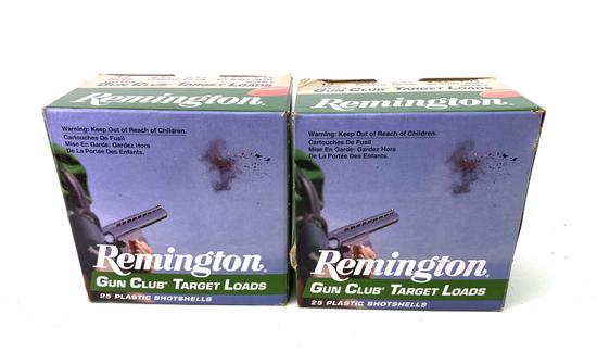 "50 Shotshells of Remington 12 GA. 2-3/4"" Gun Club Target Loads Ammunition"