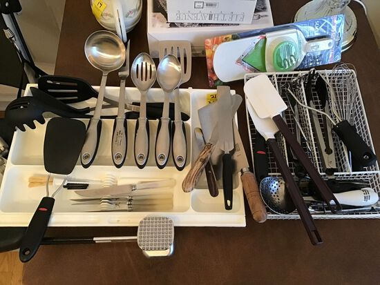 Two containers of Kitchen Utensils