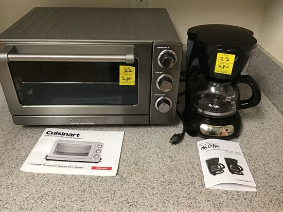 Cuisinart Toaster Oven and Mr. Coffee 5 Cup Coffee Maker