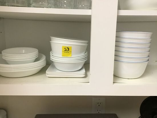 Lot of Mixed Corelle and Corningware Simply Lite White China